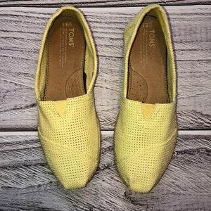 Toms Yellow Slip On Espadrilles